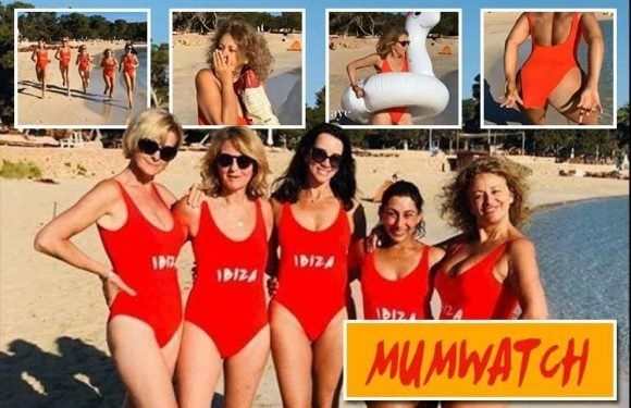 Loose Women stars go full Baywatch in saucy red swimsuits as they attempt to recreate opening sequence in hilarious video