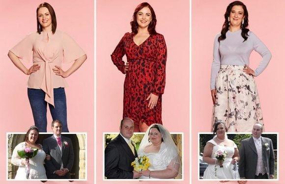 These brides shed a whopping 32 STONE between them after feeling humiliated by their wedding day photos