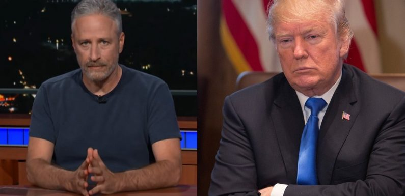 """Jon Stewart Has a Message For Donald Trump About His """"Gleeful Cruelty and Dickishness"""""""