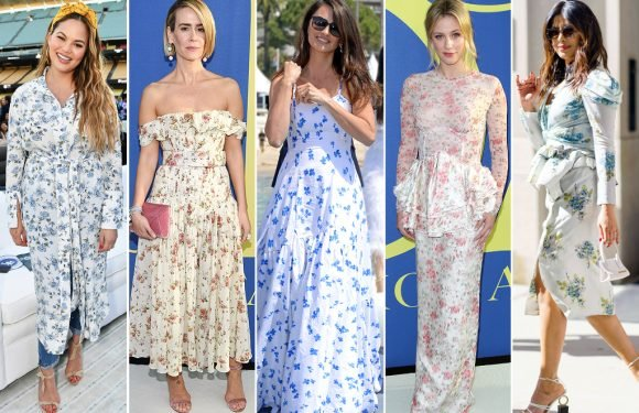 7 Celebrity-Inspired Ways to Wear Vintage Florals This Season and Where to Shop Them For Less