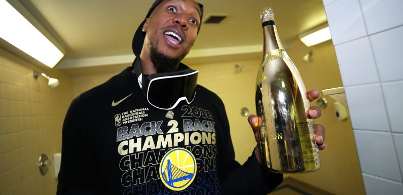 Golden State Warriors down $400K of champagne after win