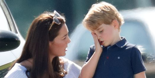 Kate Middleton Comforted Prince George at a Polo Match and the Pictures are Adorable x1000