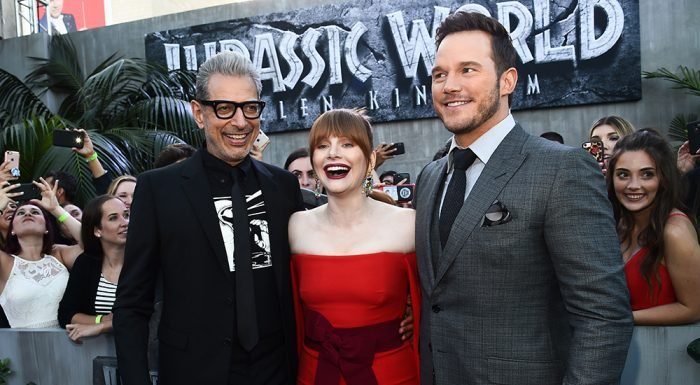 Dinosaurs and Stars Arrive in Downtown L.A. for Premiere of 'Jurassic World: Fallen Kingdom'