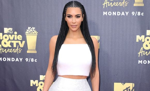 Kim Kardashian Stuns In Silver At The 2018 MTV Movie & TV Awards — See The Pic