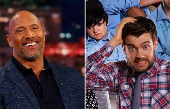 Jack Whitehall dislocates a rib while trying to compete with Dwayne 'The Rock' Johnson in the gym