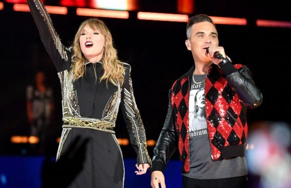 Taylor Swift brings out Robbie Williams as surprise guest during Wembley Stadium show