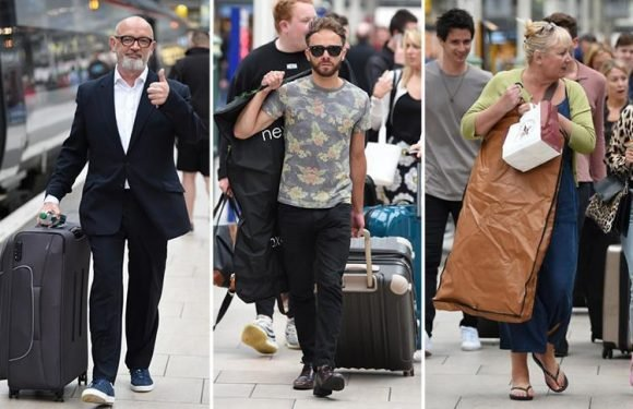 Coronation Street's Connor McIntyre and Jack P Shepherd make their way to London for the Soap Awards after Pat Phelan's on-screen death