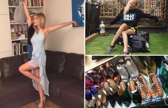 Inside Laura Whitmore's trendy Camden flat with edgy art, a huge balcony and mega shoe collection
