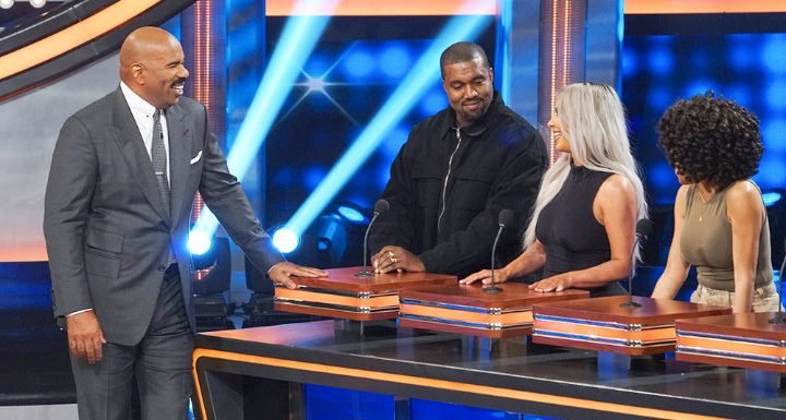Kanye West Steals the Show on 'Celebrity Family Feud' With the Kardashians
