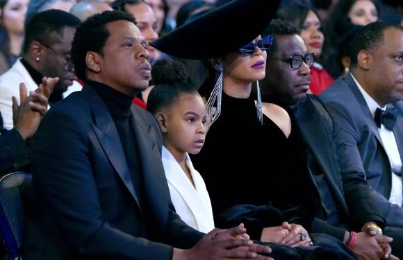 Blue Ivy Carter Hilariously Sinks with Embarrassment While Watching Her Parents' Intimate Tour Videos