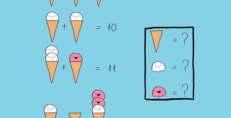 Can YOU tell how much each ice cream cone costs? The summer puzzle is trickier than it looks