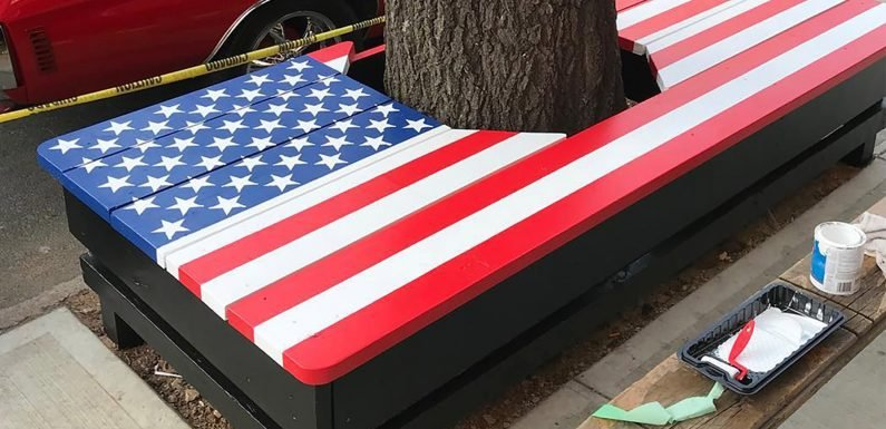 City orders American Legion to remove bench with flag painted on it