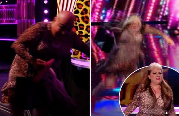Britain's Got Talent fans baffled as Mandy Muden's bald stunt double is 'accidentally caught on camera – but was it part of the act?