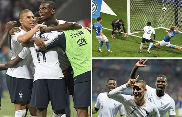 France 3 Italy 1: Antoine Griezmann, Ousmane Dembele and Samuel Umtiti on target as Roberto Mancini tastes first defeat