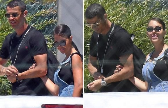 Cristiano Ronaldo and stunning Wag Georgina Rodriguez jet off from Malaga Airport as Portugal forward sets sights on World Cup