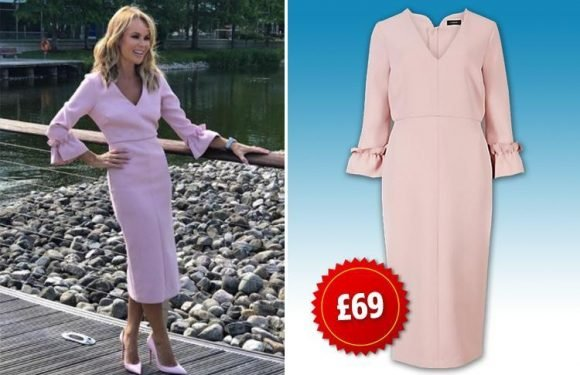 Fans have gone wild for Amanda Holden's pink dress – and it's from Marks and Spencer