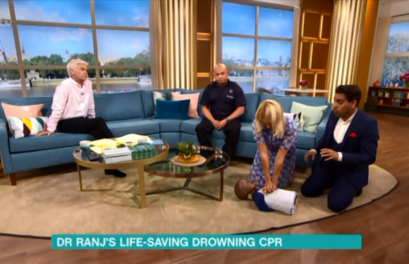 Phillip Schofield reveals how he saved his father's life after he had a heart attack and collapsed