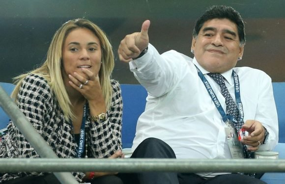 Diego Maradona gives engagement ring to 28-year-old girlfriend