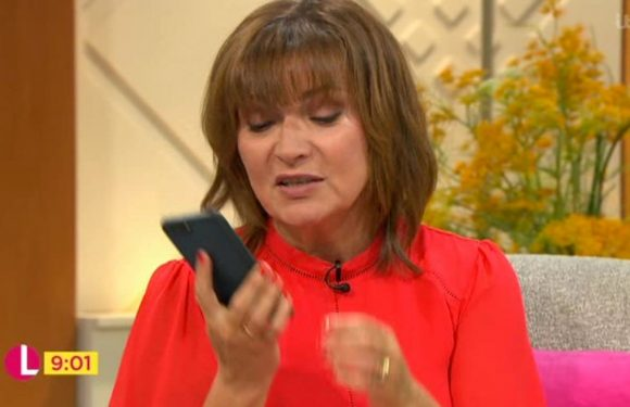 Lorraine Kelly left red-faced after her phone rings live on air