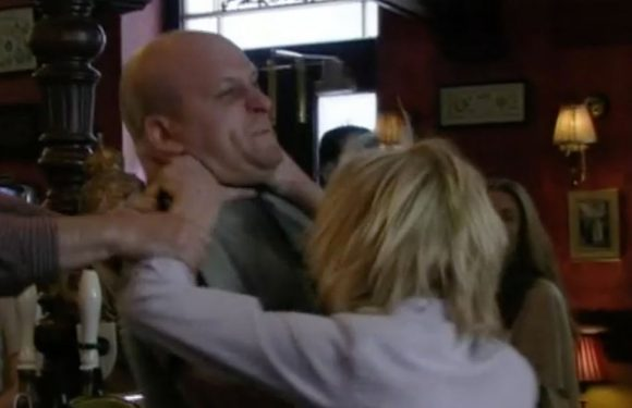 EastEnders fans gobsmacked as Shirley Carter violently strangles Stuart