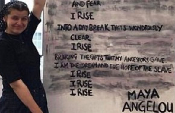 Students paint over Rudyard Kipling poem 'If' in protest at author's 'racism'