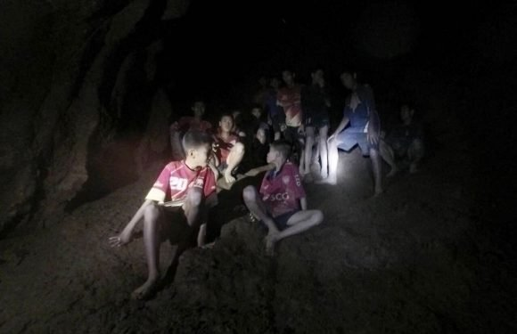 The moment a boys soccer team was found alive in a cave
