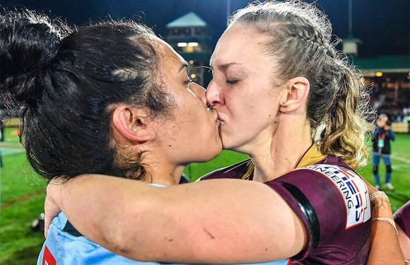 The lesbian kiss that sparked a rugby firestorm