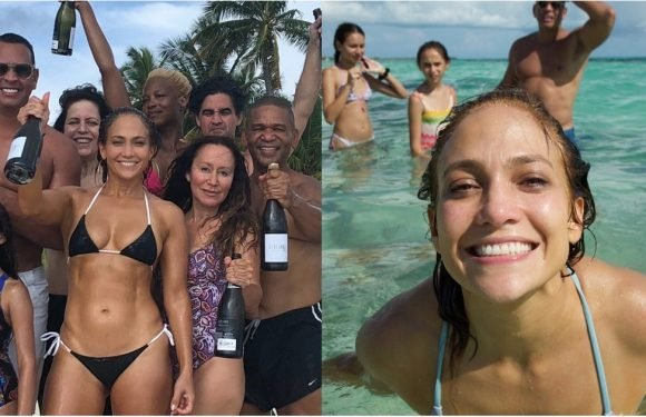 Jennifer Lopez's 49th Birthday Was a Family-Filled Beach Bash — See All the Fun Photos!