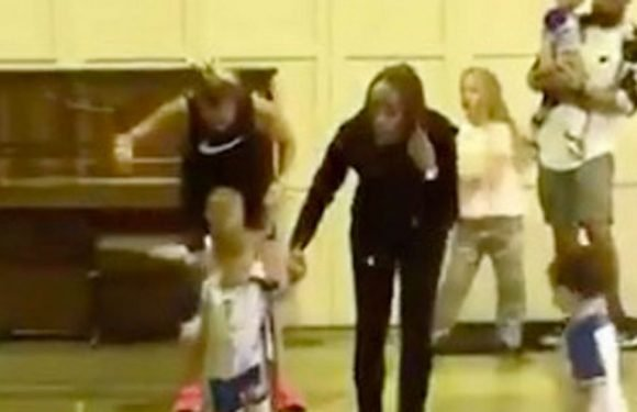Stephanie Davis shares adorable footage of Caben at football training session