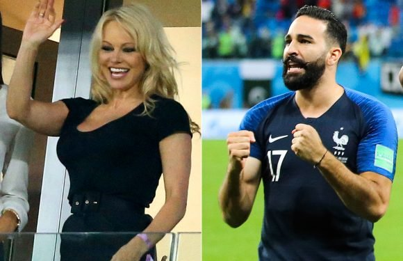 Is Pamela Anderson Engaged? Actress Supports French Boyfriend Adil Rami at World Cup Semifinal