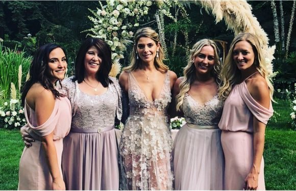 Ashley Greene's Sheer Wedding Reception Gown Is So Sexy, It Will Take Your Breath Away