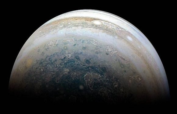The stunning swirling storms of Jupiter's southern hemisphere