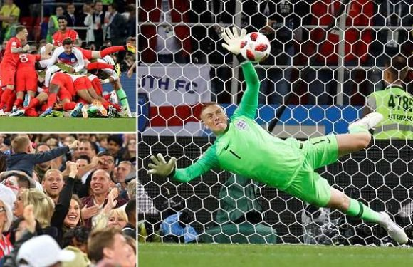 Pickford helps Lions beat Colombia in FIRST EVER World Cup penalty win