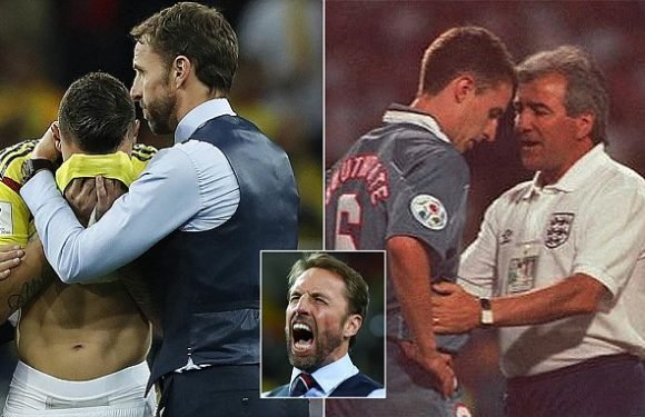 England fans praise Gareth Southgate for consoling Colombia player