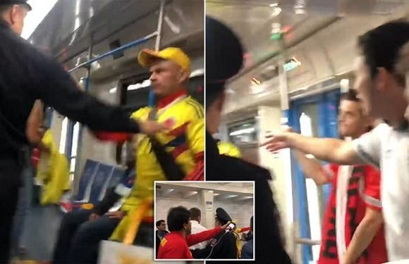 England fans arrested after Colombia supporter assaulted in Moscow