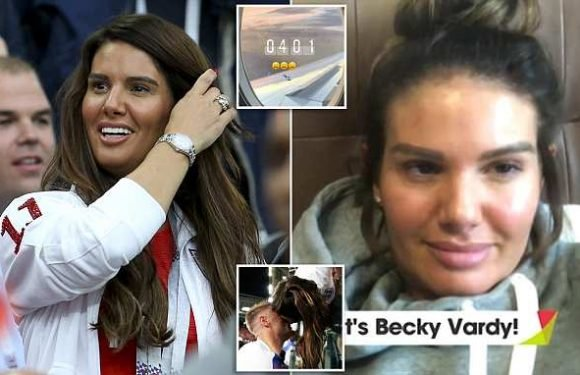Rebekah Vardy's exhausted posts after England beat Colombia