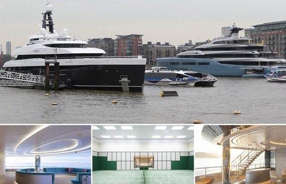 Second luxury mega yacht arrive on the Thames