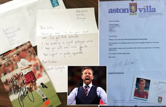 Fans share letters they received from England manager Gareth Southgate