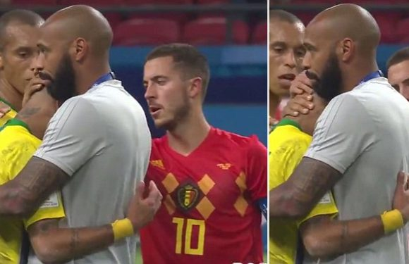 Thierry Henry and Eden Hazard console emotional Neymar