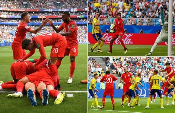 SWEDEN 0-2 ENGLAND: Three Lions through to the World Cup semi-final