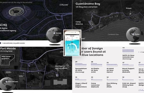 Running app exposes locations of personnel at MI6 and the White House