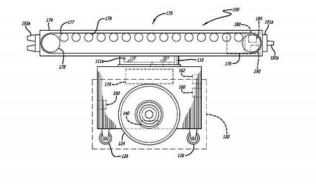 Amazon patents conveyor belts that can roll around its warehouses