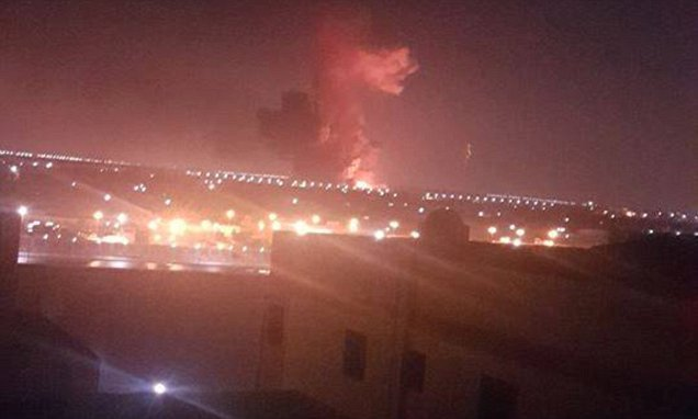 Huge blast rocks Cairo airport 'as fuel tanks catch fire and explode'