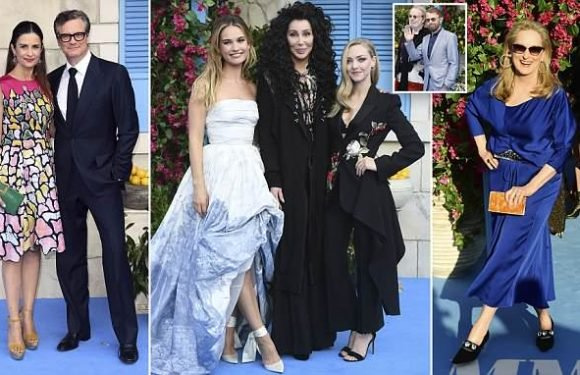 Lily James wows in strapless ivory gown at Mamma Mia 2 premiere