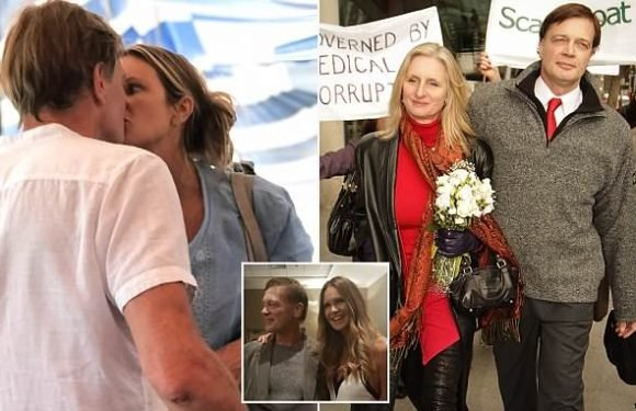 Wife of disgraced Brit doctor pictured kissing Elle MacPherson shocked