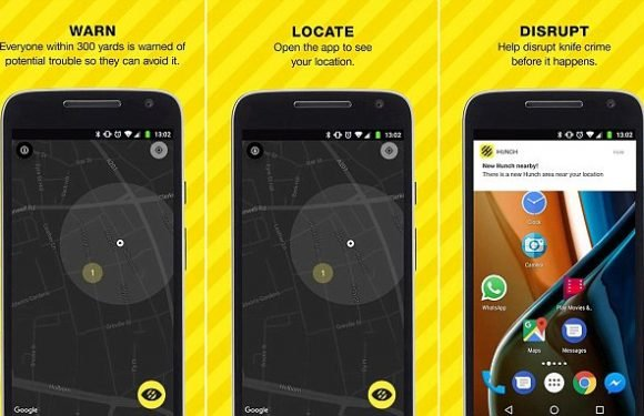 App 'Hunch' to tackle crime by marking areas of  'suspicious' activity