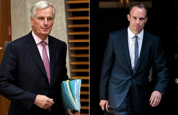 Brexit Secretary faces Barnier for first time amid no-deal warnings