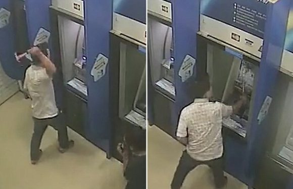 Man smashes ATMs with hammer after arguing with security guard