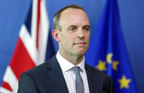 Let's get on with it! DOMINIC RAAB's Brexit war cry