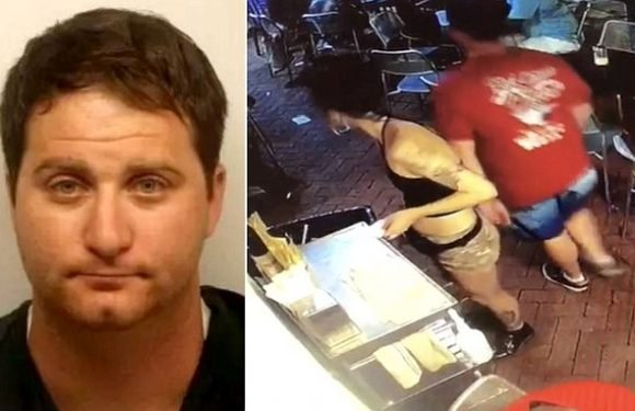 Man arrested after he groped waitress is father of twins